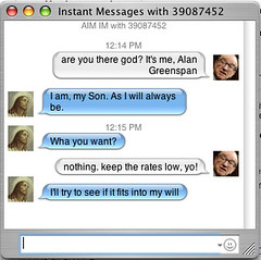 Gabbin' with God (mathowie) Tags: ichat ui thejesus