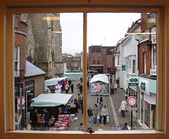 Window View (Auntie P) Tags: street uk 2004 window geotagged december view market solstice newport vectis isleofwight glimpse dilodec04 dilo iow newportiow geo:lat=506833 geo:lon=013000 stthomassquare pylestreetproject