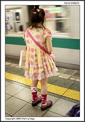 Subway Girl (cherryvega) Tags: egl fashion fruits gothiclolita street tokyo subway japan 2004