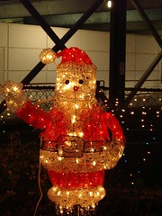 Electric Santa (Mac Diva) Tags: santaclaus christmas 2004 meier frank tree fir spruce post office santa starbucks latte