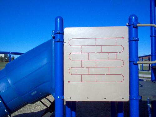 blue playground slide westgoshenpark