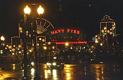Navy Pier at night, November 2004