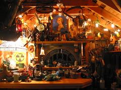Potting shed interior (NJ Artist) Tags: potting shed window lights stained glass pottingshed gardenshed toolshed
