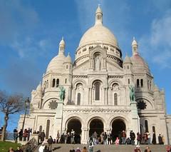 Basilique du Sacré Cœur (Danburg Murmur) Tags: paris france geotagged landmarks montmartre sacrecoeur républiquefrançaise geo:lon=2343199 geo:lat=48885937 basiliquedusacrécœur