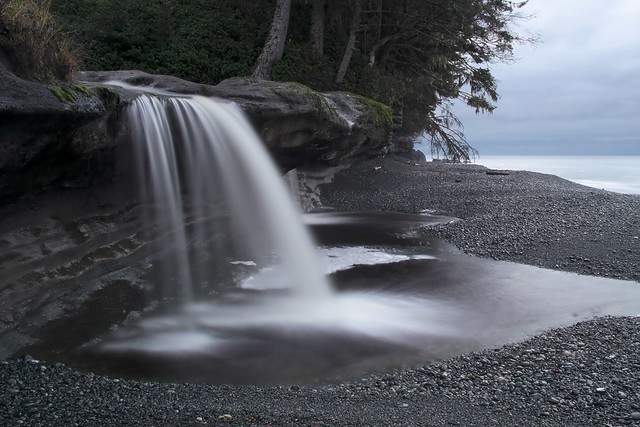 Waterfall: Sandcut Beach