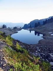 lake ann at dusk (Vida Morkunas (seawallrunner)) Tags: usa mountain lake washington baker hiking climbing ann shuksan cwall