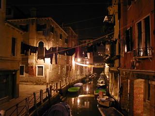 Night in a venetian alley