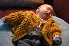 day 182: odin and the oldest sweater evah? (snowdeal) Tags: ericiv odin baby day182 sleep boppy