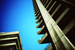 barbican tower (lomokev) Tags: blue sky london tower concrete lomo lca xpro lomography crossprocessed xprocess lomolca barbican agfa praiseandcurseofthecity jessops100asaslidefilm agfaprecisa lomograph towerblock towerblocks agfaprecisa100 cruzando top20xpro precisa barbicancentre replaced jessopsslidefilm rota:type=showall rota:type=perspective rota:type=composition file:name=cd00217 posted:to=tumblr