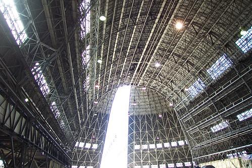 Hangar One Interior, Moffett Field, California