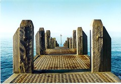 aberjetty (GatheringZero) Tags: sea sunlight beautiful wooden carved shadows jetty rusty aberystwyth aber carven