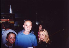 Tom with the Olsen twins (Tom G) Tags: baltic cruise 2001 tom olsen twins olsentwins kraproom