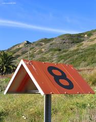 Number 8  camp marker