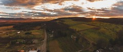 Sunset - Glenwood, New Jersey (- Anthony Papa -) Tags: dji phantom 4 sunset glenwood new jersey green mountain winter apple field farm country anthony papa photos grass tumblr vintage matte film digital amazing road long depth composition sky clouds rural nature landscape photography digitalrev white art travel