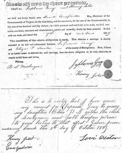 1839  marriage bond  japhanis