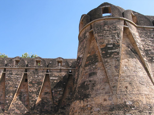 Wall of Chittorgarh fort