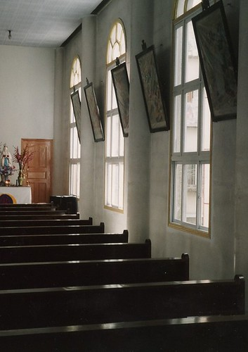 Kangding Catholic church interior
