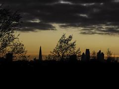 Skyline from Olympic Park (thechymist) Tags: london shard skyline dusk sunset cityscape stratford olympics