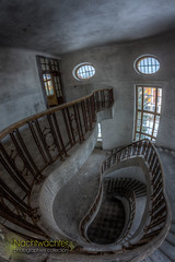 Treppe II (Nachtwchter) Tags: abandoned kaserne gssd gdr dri ruine ddr hdr urbanexploration barracks abandonn tonemapping verlassen alt verfall zerfall stairs treppe