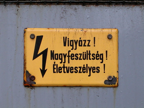 Hungarian sign by lorentey, on Flickr