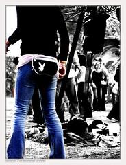 doof bunny (Webgrrl.Biz) Tags: cutout australia melbourne jeans denim psfk mycooljeans stompin