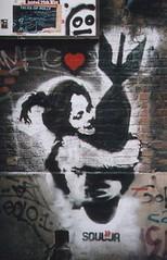 banksy soulja (duncan) Tags: banksy stencil london bricklane flickoff topv111 500v20f topf25 girl