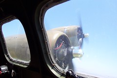 B-17: Inflight, view from navigator's seat
