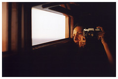waking on the boat ( Tatiana Cardeal) Tags: 2001 sunset selfportrait film me tatianacardeal ontheboat amazonia pentaxspotimatic artofemtpy