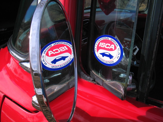 photo unfound ford f150 red pickup cars trucks classic collectors mirror reflection rearview rearviewmirror