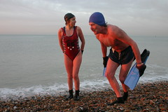 dave & yvonna (lomokev) Tags: sea beach water stone dave swimming brighton yvonne superdave  deletetag flickr:user=yvoluna flickr:nsid=13520439n07 davesawyers