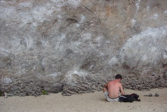 chalking up for some bouldering (drewish) Tags: travel climbing raileybeach thailand