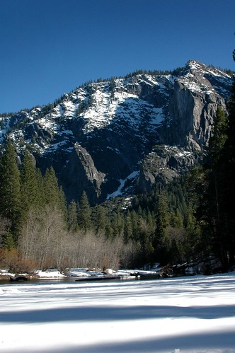 Photo: Snow and the Merced River. Photo by Loyd Schutte