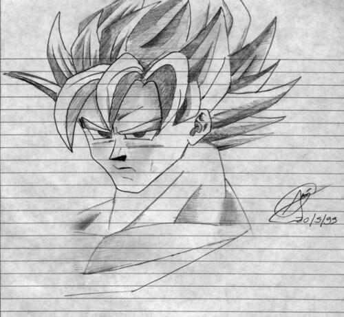 dibujo de goku colorear - Goku drawing coloring