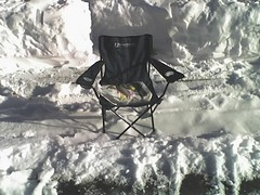 My first folding-chair parking-space-holder