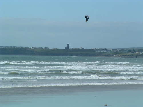 Kiteboarding on Lahinch Beach - Clare -  Ireland by kiteboarding