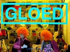 GLOED (Keees) Tags: shop window words amsterdam orange mannequin gloed mintgreen twilight wigs spaarndammerstraat fashion 1013 nl1013 postcode