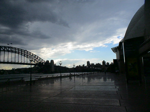 view of Harbour Bridge (from the Opera House)