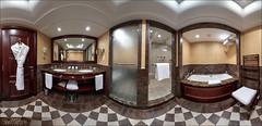 Salle de bain, Junior Suite De Luxe , hôtel Métropole 5*, Monte-Carlo (Dany-de-Nice) Tags: monaco montecarlo hôtel hotel métropole luxe luxury suite salledebain bathroom panoramique panoramic 360 hdr oloneo autopano 6d fisheye 15mm