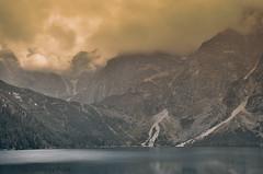 View of the Tatra Mountains (Grzesiek.) Tags: tatry morskieoko chmury góry mountain tatra water lake fog landscape cloud
