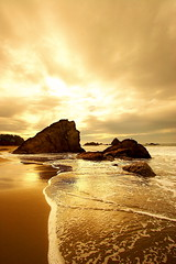 Land & Water - vol.I (| HD |) Tags: ocean sunset seascape 20d beach water oregon canon gold golden coast interestingness sand bravo rocks searchthebest angle pacific northwest quality wide shore hd harris darwish hamad efs 1022mm brookings
