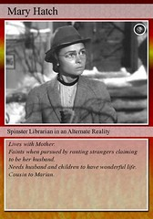 Mary Hatch...A Not So Wonderful Life (Rochelle, just rochelle) Tags: fdsflickrtoys tradingcard librarians itsawonderfullife stereotypes donnareed