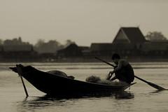 Fishing At Dawn, Inle Lake, Burma - by tarotastic