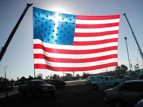 am flag light cross