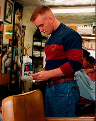 Red Flattop (Flatboy) Tags: haircut shaved shave flattop flat top red