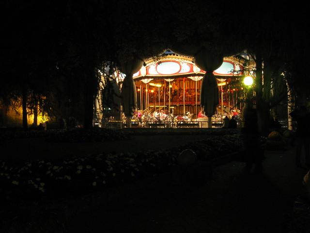 gardaland lights rides night halloween