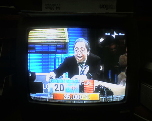 Raw Greed On Visage Of Italian 'Deal Or No Deal' Equivalent Contestant (Photo By Biotron)