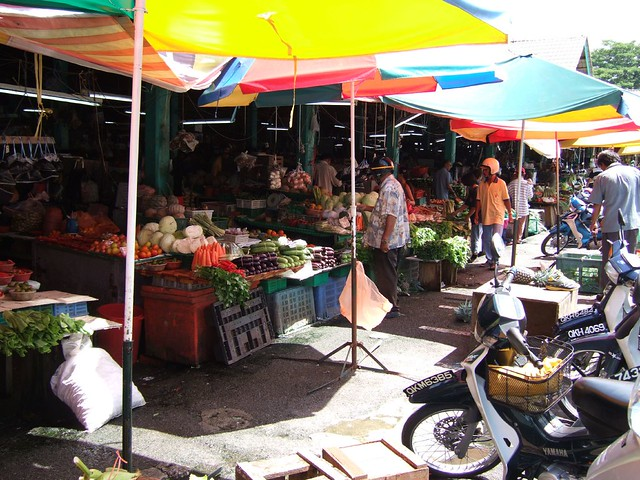 Fruit and vegtable stalls in Kuching