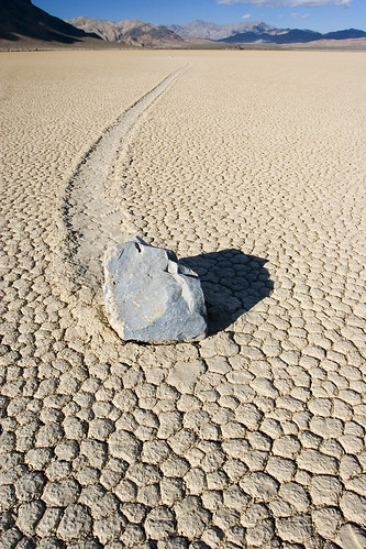 Racetrack Playa Wandering Rock