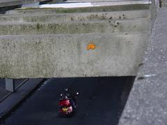 Space Invader PA_017 (deleted) (tofz4u) Tags: spaceinvaders streetart paris invader boulevardpériphérique 75013 spaceinvader pa017 deleted artderue mosaïque mosaic tile périph périf autoroute moto bike desactivated porteditalie pa17