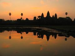 Angkor Wat at dawn.